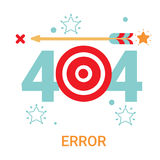 Error Icon 404 Not Found Broken Message Banner. Flat Vector Illustration Royalty Free Stock Images