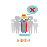Error Icon 404 Not Found Broken Message Banner. Flat Vector Illustration Royalty Free Stock Photography