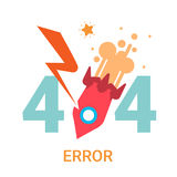 Error Icon 404 Not Found Broken Message Banner. Flat Vector Illustration Royalty Free Stock Photo