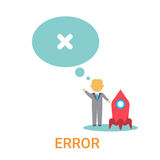 Error Icon 404 Not Found Broken Message Banner. Flat Vector Illustration Stock Photography