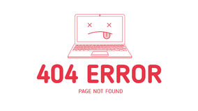404  error with icon notebook design Stock Photo