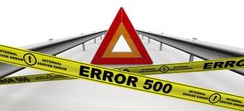 ERROR 500 Internal server error stock illustration