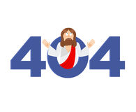 Error 404. Jesus Christ is surprise. Page not found template for. Website. God`s Son does not know and is surprised. Page lost and found message. problem Royalty Free Stock Images