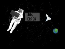 Error 404 lost in space Royalty Free Stock Photography