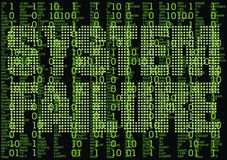 Error in matrix background Stock Photo