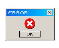 Error message Royalty Free Stock Photo