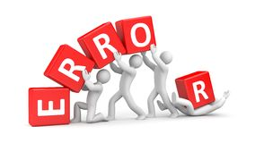 Error metaphor Royalty Free Stock Image