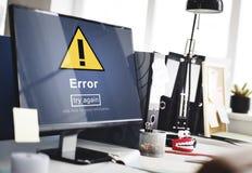 Error Mistake Online Reminder Beware Alert Concept Stock Images