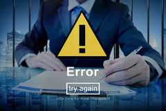 Error Mistake Online Reminder Beware Alert Concept Royalty Free Stock Photography
