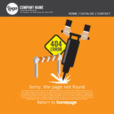 Error no encontrado 404 de la página Imagen de archivo