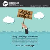 Error no encontrado 404 de la página Foto de archivo libre de regalías