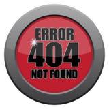 Error 404 Not Found Dark Metal Icon Royalty Free Stock Photo