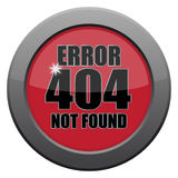 Error 404 Not Found Dark Metal Icon royalty free illustration