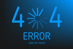 404  error not found page with icon download design Royalty Free Stock Image