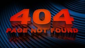 Error 404 (página no encontrada) Fotografía de archivo libre de regalías