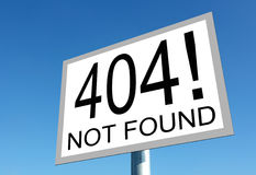 Error page Royalty Free Stock Photography