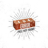404 error page with brick. Vector concept of 404 error page. Illustration for page 404 error. Page not found message. Template for web page with 404 error Royalty Free Stock Photo