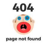 404 error page. Flat illustration Royalty Free Stock Images