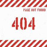 404 error page grunge background. Vector illustration.  Royalty Free Stock Images