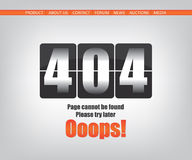 404 error page Stock Images