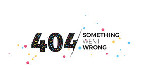 404 error page. Error 404 page layout vector design. Creative design illustration for broken links and pages. The page you requested could not be found template Royalty Free Stock Image