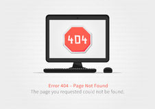 Error 404 page layout vector design Stock Photos