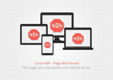 Error 404 page layout vector design Stock Image