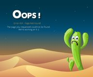 Error 404 page layout vector design royalty free stock photography