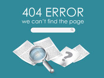 404 Error Page Royalty Free Stock Image