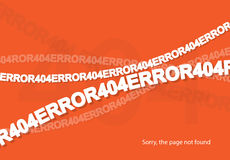 Error 404. Page not found. Abstract background with break connection. Vector illustration Royalty Free Stock Image