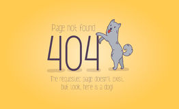 404 error page not found cartoon design.  Royalty Free Stock Images