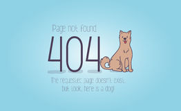 404 error page not found cartoon design.  Stock Photo