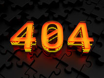 Error 404 - page not found. Error 404 (page not found) - computer generated image (3d render Royalty Free Stock Image