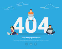 Error page not found concept illustration Stock Image