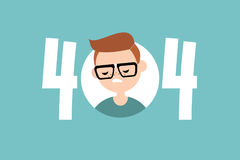 404 error. page not found. Conceptual illustrated sign Royalty Free Stock Images
