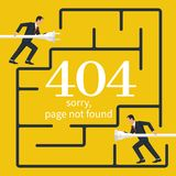 404 Error, page not found vector illustration