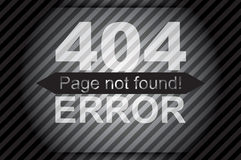 404 error, page not found Stock Image