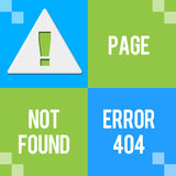 Error 404 - Page Not Found Green Blue Four Blocks Stock Photography