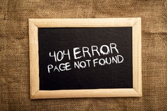 404 error, page not found. 404 error, internet web page not found message on the blackboard stock photos