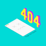 Error 404 page not found. Isometric background. Page is bad Stock Image