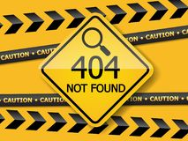 404 error page not found label Royalty Free Stock Images