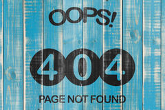404 Error. Page not found, 404 template on wooden boards Stock Image