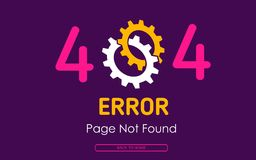 404 error page not found vector cog graphic background. 404 error page not found vector cog background Stock Photography