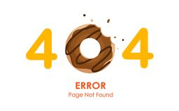 404 error page not found vector with donut graphic. 404 error page not found vector with donut royalty free illustration