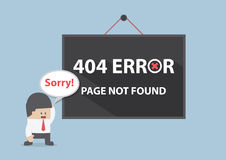 404 error, Page not found Royalty Free Stock Photography