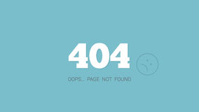 404 error page. Page not found Stock Image