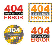 Error page template graphics Stock Photo