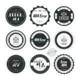 Error page theme label sticker Royalty Free Stock Photos