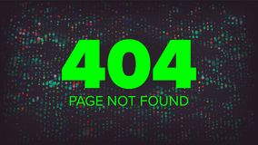 404 Error Vector. Error 404 Page Not Found Creative Template. Problem Disconnect Concept Illustration. 404 Error Page Vector. Broken Web Page Graphic Design Royalty Free Stock Image
