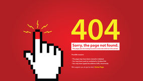 404 error page vector illustration Royalty Free Stock Photo